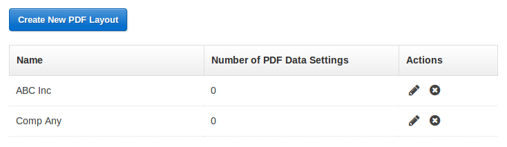 Screenshot: PDF White Label Table