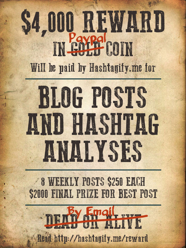 hashtagify Blog Reward